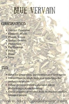 """Magick Herb Blue Vervain: 2""""x3"""" bag for sale - Pinned by The Mystic's Emporium on Etsy"""