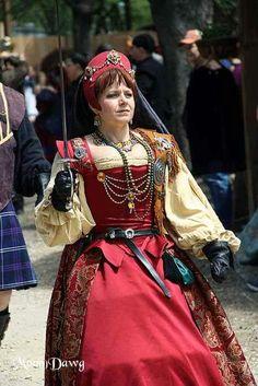 Scarborough faire Renaissance Festival Waxahachie Texas Scottish Court gown