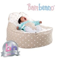 Bambeano® Baby Bean Bag – try baby bean bags! A baby bean bag chair with safety harness and washable cotton cover. Toddler cover included for 5 years extra at BeanBag Bazaar. Toddler Bean Bag Chair, Bean Bag Bed, Bean Bags, Bebe Baby, Baby Love, Baby Chair, Baby Beanbag, Bean Bag Covers, Toddler Furniture