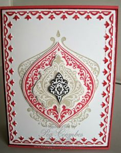 Stampin' Up! Framed Tulip Embossing Folder, Beautifully Baroque stamp