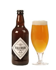 Fulcrum wheat beer 5% ABV Clearsky Brewing Company, Northern Ireland.