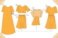 mumu to dress refashion3 Vintage May // Mustard Mu Mu Refashion