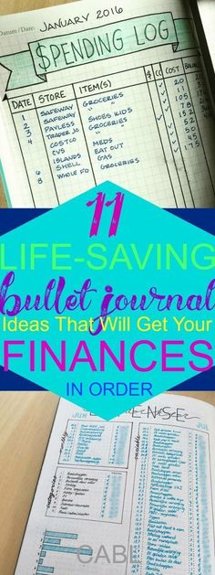 11 Life-Saving Bullet Journal Ideas That Will Get Your Finances In Order#BUJO #bulletjournal #planners