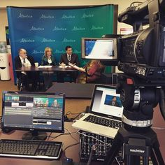 A photo of our live webcast and webinar set-up. #live #video #videoproduction #yeg #yyc #asquaredtv