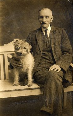 Uncle William with his dog by lovedaylemon, via Flickr