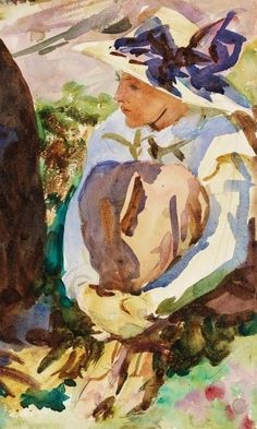 John Singer Sargent (1856-1925) - The Lesson (detail), 1911
