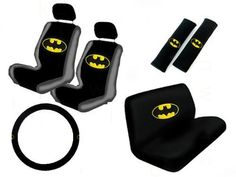 11 Piece Auto Interior Gift Set - Batman Classic Logo