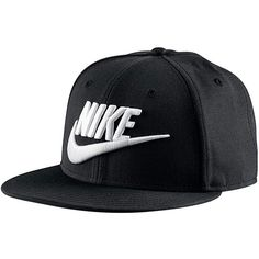 NIKE SPORTSWEAR True Futura Snapback Cap Schwarz ($11) ❤ liked on Polyvore featuring accessories, hats, nike hat, sports cap, cap snapback, sports snapbacks and sport caps