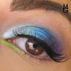 Green Accent on Makeup Geek - fun eye shadow look for spring or summer