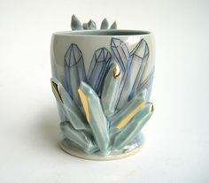 RESERVED FOR HALLE Sculpted Gem Growing by SilverLiningCeramics, $58.00