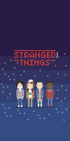 Stranger things characters pixelated, summer iphone wallpaper, blue backgorund amazingly cute backgrounds to grace your screen Stranger Things Tumblr, Stranger Things Characters, Stranger Things Aesthetic, Eleven Stranger Things, Stranger Things Netflix, Stranger Things Season, Best Wallpapers Android, Wallpapers Tumblr, Scrapbooking Simple