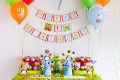 Monster Birthday Party Ideas | Monster Treat Table