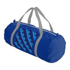 Blue Gym Bag With Original Art Graphic by DinaPetiteOriginal