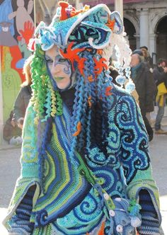 Knitted costume - Carneval 2012 in Venice