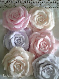 Rose soaps by La Casa Bella