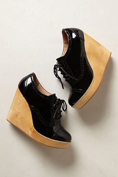 Glossed Oxford Wedges #anthropologie