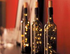 How to Make Lighted Wine Bottles