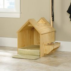 Trendy Under The Stairs Dog House Window Ideas Wood Dog House, Small Dog House, Build A Dog House, Dog House Plans, Winter Dog House, Plastic Dog House, Niches, Pet Furniture, Diy House Projects
