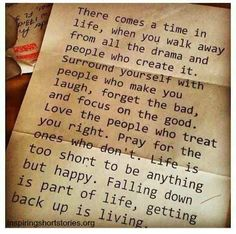Falling down is part of life, getting back is living.