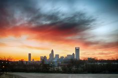 early morning sunrise over charlotte city skyline downtown by digidreamgrafix  on 500px