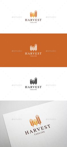 Harvest Logo  — EPS Template #grow #agriculture • Download ➝ https://graphicriver.net/item/harvest-logo/18298376?ref=pxcr