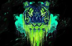 Tigre Psicodélico - Tutoriais Photoshop | ::Tutoriais Photoshop::