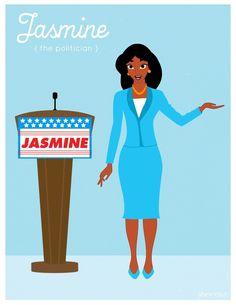 Jasmine [as a politician] (As Workers by Jana Randall @SheKnows) #Aladdin