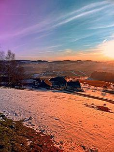 Colorful winter wonderland sundown. Afiesl, Österreich / Austria