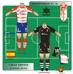 Granada CF of Spain kits for Granada Cf, Football Team, Spain, Logos, Shirt, Football Squads, Dress Shirt, Sevilla Spain, Logo