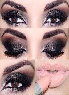 Eye Makeup Tips.Smokey Eye Makeup Tips - For a Catchy and Impressive Look Pink Lipstick Makeup, Skin Makeup, Makeup For Brown Eyes, Smokey Eye Makeup, Smokey Eyeshadow, Makeup Eyeshadow, Heavy Makeup, Eyeshadow Palette, Cranberry Eyeshadow