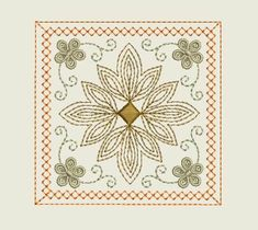 Free machine embroidery design for napkin