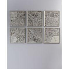 "Six ""Paris, 1715"" Map"