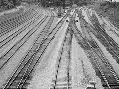 Toronto, lots of tracks no trains.