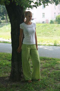 """Dámské \""""dřevěné\"""" kalhoty"""