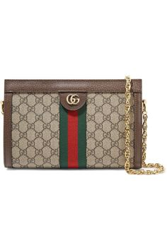cf12a49b96d16 Gucci Ophidia Textured Leather-Trimmed Printed Coated-Canvas Shoulder Bag   accessorizehandbags Accessorize Handbags