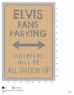 elvis plastic canvas patterns | Share