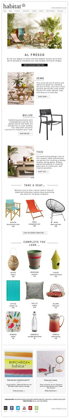 Habitat - NEW outdoor furniture + sunshine - newsletter example