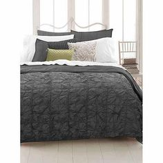Knotted Squares Bedding Duvet Cover, Grey