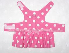 Dog Harness Dress Hot Pink Polka Dots  SMALL by piddleronthewoof, $18.50