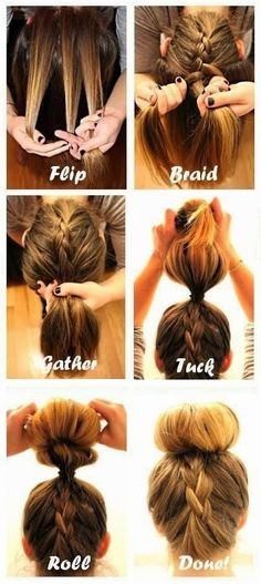 By now, you've probably managed a typical French braid... but have you tried turning it upside down?  An upside-down braid is a fun w...