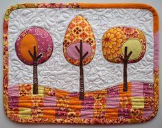 Holiday Sewing, fall mug rug or placemat