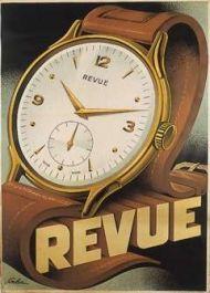 """Deco """"Revue"""" watch poster, ca. 1930"""