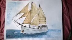 Velero... Sailing Ships, Boat, Water Colors, Dinghy, Boats, Sailboat, Tall Ships, Ship