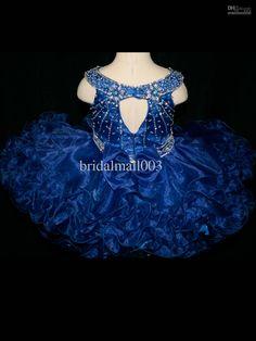 Royal Blue Little Rosie National Infant Pageant Gown Flower Girl's Dresses LR824, $57.91 | DHgate.com