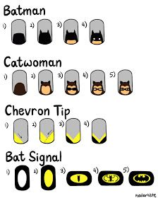 Easy batman nail tutorial! Its friggin amazing