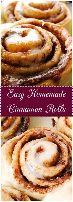 Cinnamon and brown sugar come together in this soft, warm, gooey, breakfast favorite. #cinnamonrolls #cinnamon #brownsugar #breakfast #easycinnamonrolls