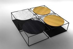 Coffee table G3   Marble coffee table by ROCHE BOBOIS