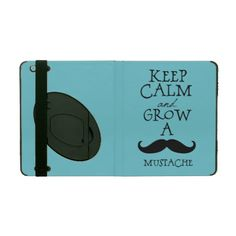 Keep Calm Mustache iPad Covers