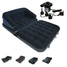 Leather Sectional Sofa NEW in INFLATABLE DOUBLE SOFA COUCH LOUNGER MATTRESS AIRBED W ELECTRIC PUMP