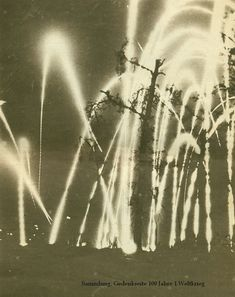 WWI; Night Sky during artillery barrage at the Battle of the Somme, 1916.
